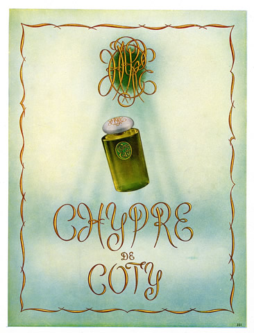 Coty (Perfumes) 1949 Chypre
