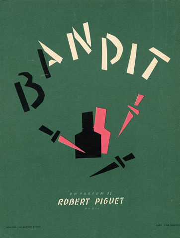 Robert Piguet (Perfumes) 1946 Bandit Bouldoires