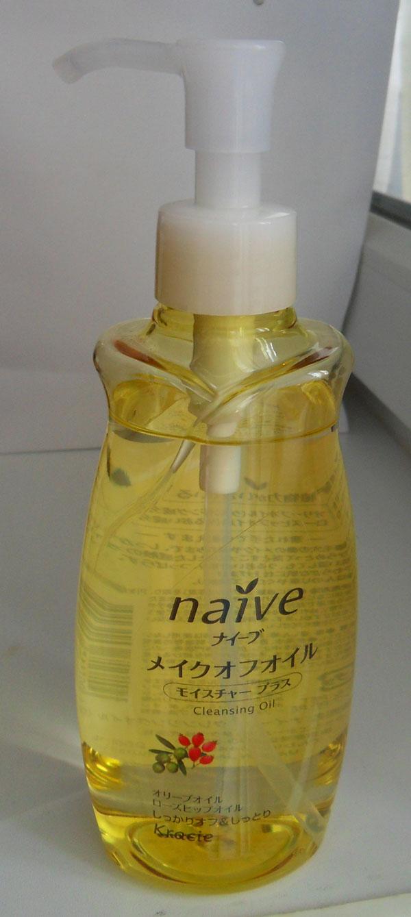 Kracie naive Makeup Cleansing Oil (moist) шиповник и олива