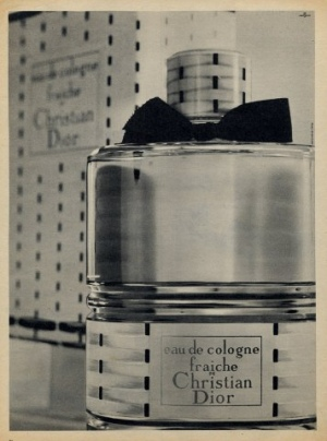 Eau de Cologne Fraiche Christian Dior постер 1958 год