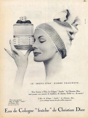 Eau de Cologne Fraiche Christian Dior постер 1957 год