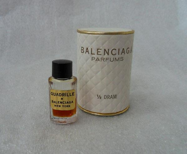 Quadrille Balenciaga vintage parfum