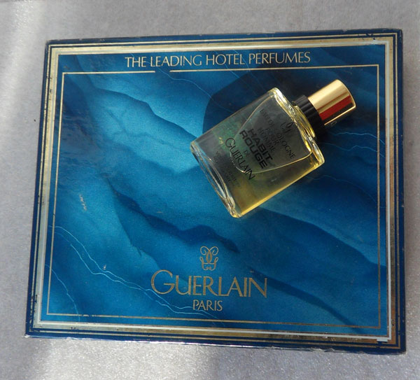 Habit Rouge Guerlain vintage cologne set