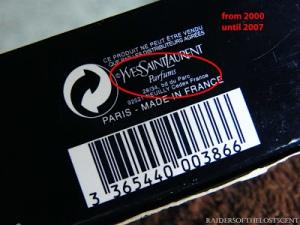 Yves Saint Laurent Parfums gucci 1999 - 2007