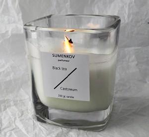 Свеча Black tea Castoreum Sumenkov parfumeur