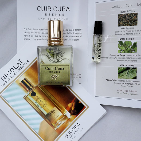 Cuir Cuba Intense Parfums de Nicolaï